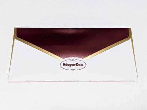 ハーゲンダッツのギフト用封筒