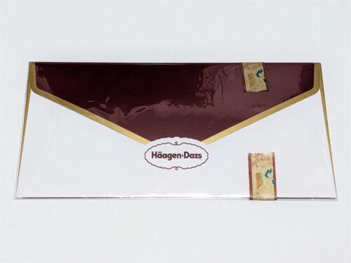 OPP袋に入れて封をしたハーゲンダッツギフト用封筒